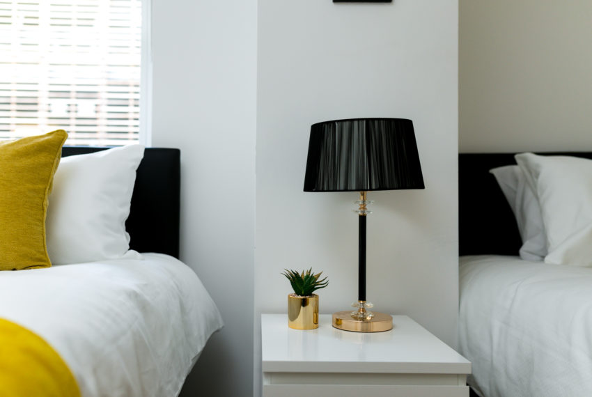 Bedside lamp double